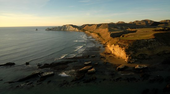 Gannet Beach Adventures : View from Black Reef looking towards Cape Kidnappers