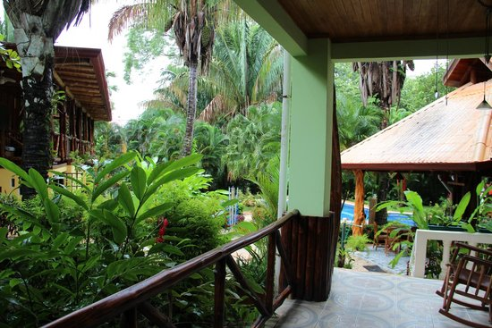 Giardino Tropicale: View of the pool and eating are