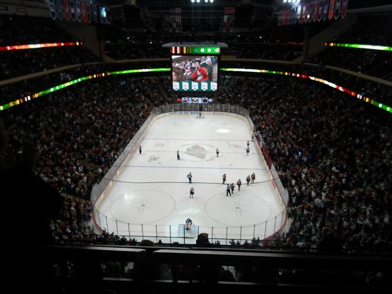 Xcel Energy Center: view from the seat