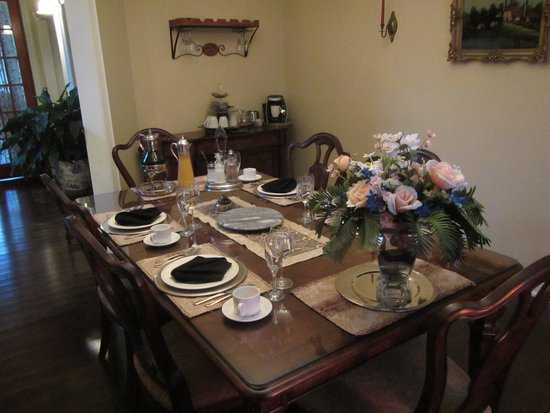 Panache Bed and Breakfast : The Panache Dining Room