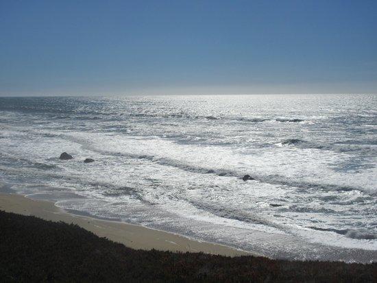 View of Pacific Ocean from Half Moon Bay Golf Links, Half Moon Bay, Ca