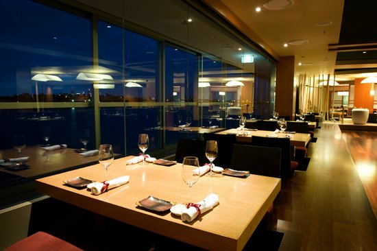 River view tables picture of sono japanese restaurant for Table for 6 brisbane
