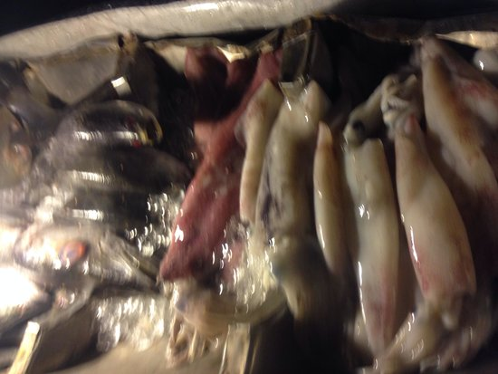 Marine Bungalows: Fresh seafood