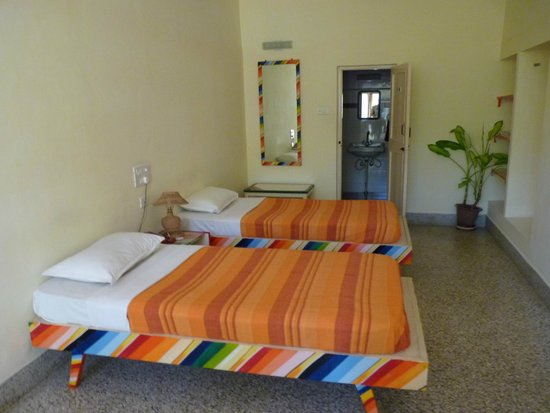 Green Hotel : Beds in hostel portion of the property