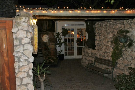 Entrance to Alegria Restaurant from outside