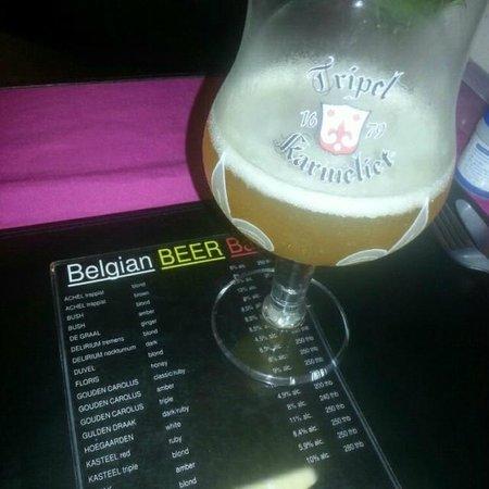 Belgian Beer Bar/restaurant: Tripel Karmeliet