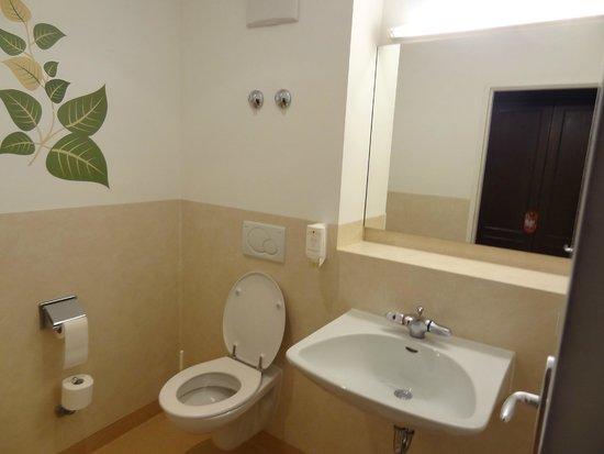 WC mit Waschbecken  Picture of Lobinger Hotel Weisses  ~ Waschbecken Riss