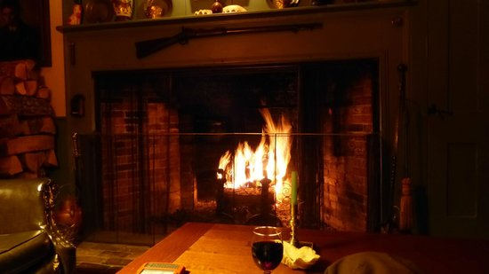 Brookhirst Farm Bed & Breakfast: Fire kindly laid by George