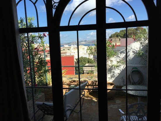 La Maison de Tanger: View from the suite of the terrace and Tangier below.