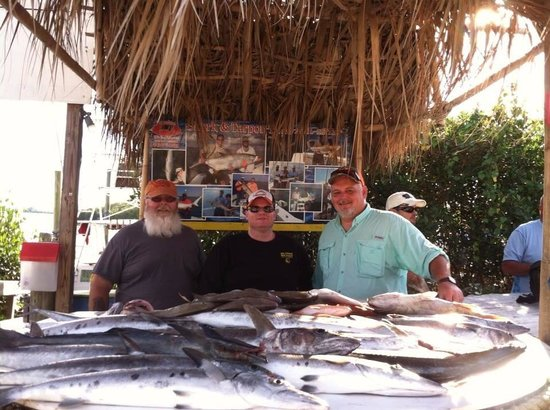 Paradise Fishing Charters : Our table of fish.