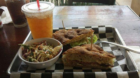 Bushfire Grill: BLT sandwich w/ kahl slaw