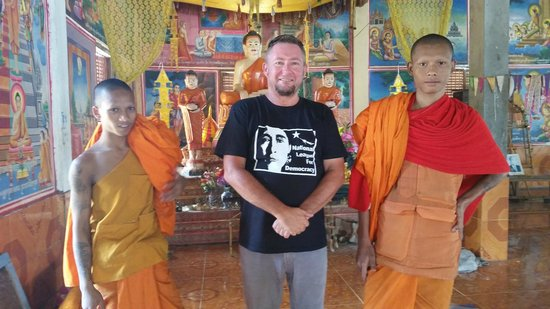 Khmer Ways - Moto Adventures Day Tours: Some of the monks you meet on the ride