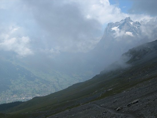 View to Grindelwald and the Wetterhorn