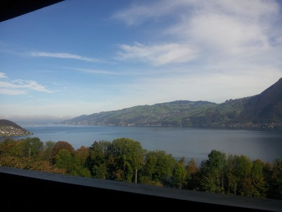 Hotel Sunnehusi: Aussicht vom Zimmer aus.