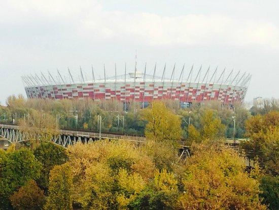 Logos Hotel: Blick auf das Nationalstadion Warschau