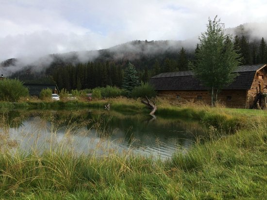 Rainbow Ranch Lodge: Pond and events barn
