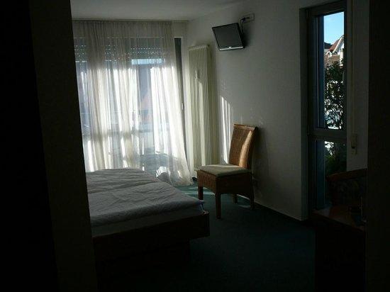 Hotel Metropol Tubingen: Camera con porta finestra e finestra