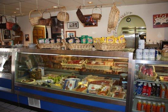 Lionshead Arcade: French Deli downstairs