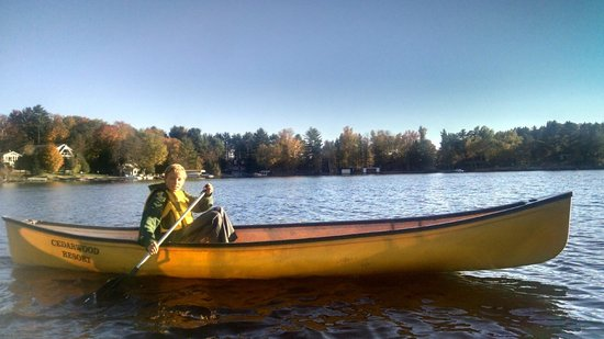 Cedarwood on Lake Muskoka: Canoe
