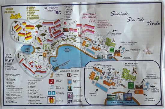 Las Brisas Huatulco: Map of resort