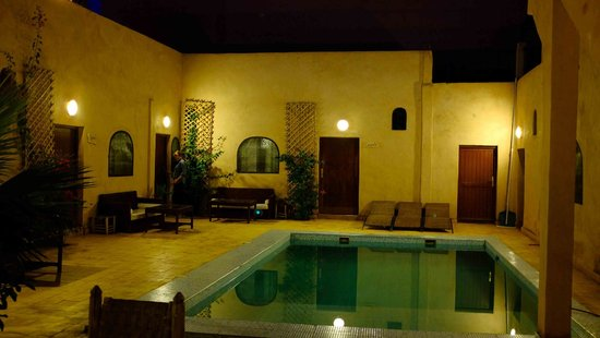 Pool area and rooms