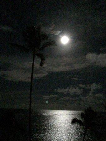 Pat's at Punalu'u : Full Moon taken from lanai!