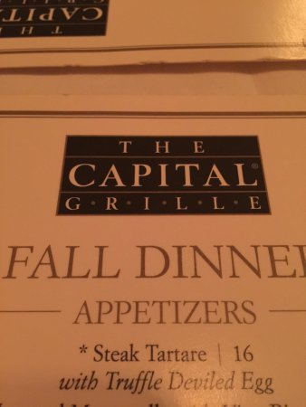 The Capital Grille: We're here!