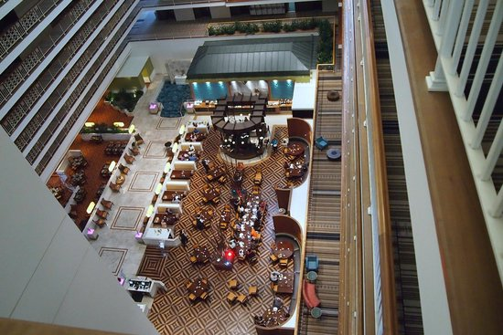 Concorde Grill Looking Down From 11th Floor Picture Of