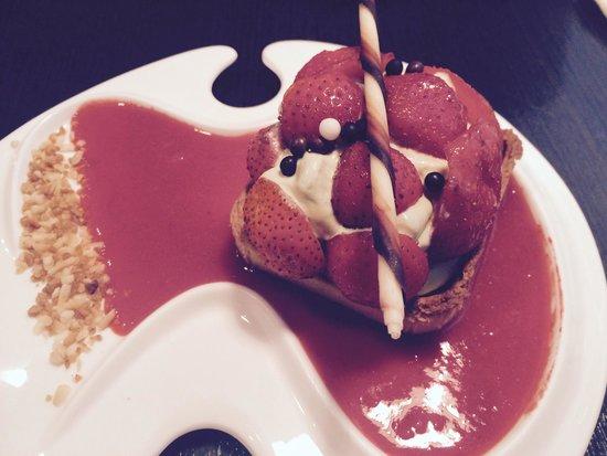 Tout Simplement : La gourmandise fraise pistache.