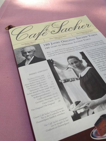 Café Sacher Salzburg: Cafe Sacher menu