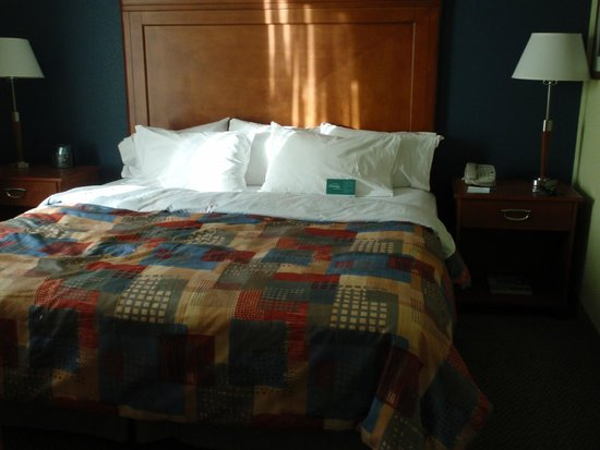 Homewood Suites by Hilton Newburgh-Stewart Airport: king size bed
