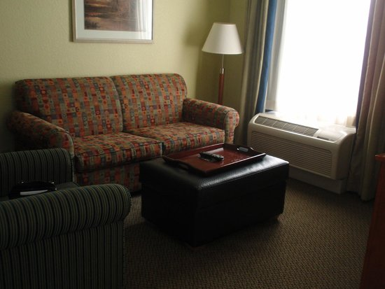 Homewood Suites by Hilton Newburgh-Stewart Airport : living room w/sofa bed