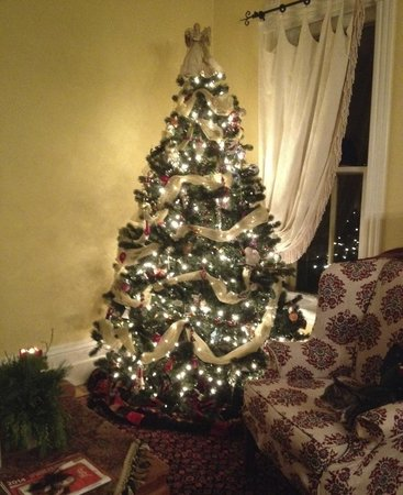 A Hundred Church Street Bed and Breakfast: Holiday Decor in the Living Room