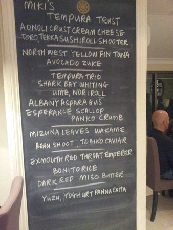 Mikis Open Kitchen: The delicious menu on offer