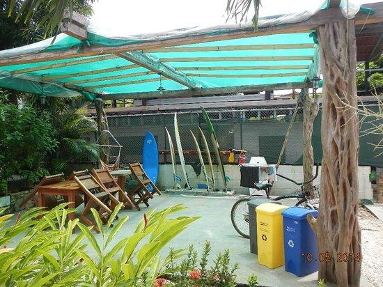 Principe del Pacifico: surf and water gear area