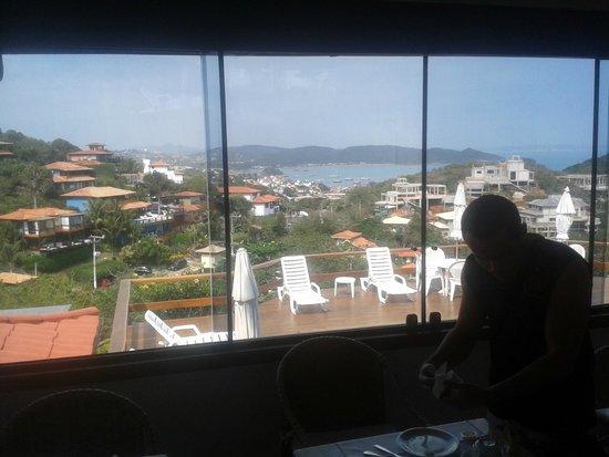 Pousada Santorini: Vista do Restaurante e piscina