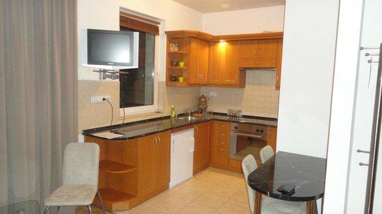 Agape Aparthotel : Cozinha equipada