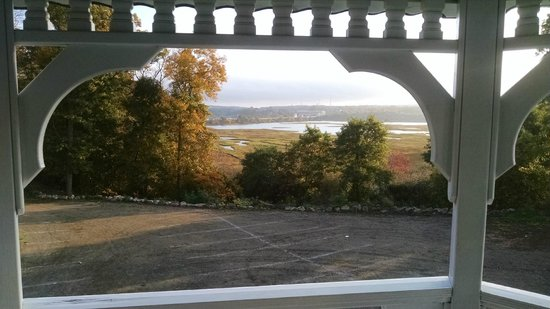 The Castle Manor Inn: View from the Gazebo