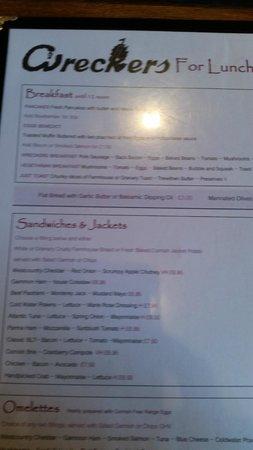 Wreckers: Bit of the menu