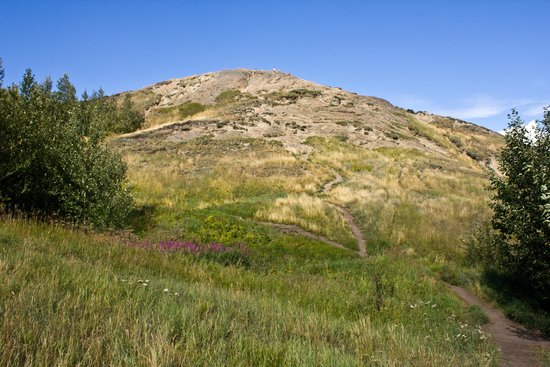 Looking up at Bodenburg Butte
