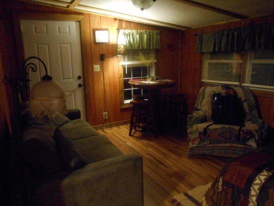 Rim Rock's Dogwood Cabins: Living Room in Bear's Den