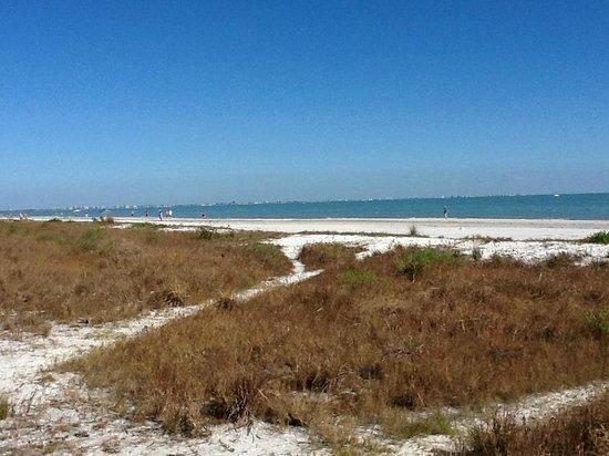 Sanibel Arms Condominiums: Our path down to the beach.