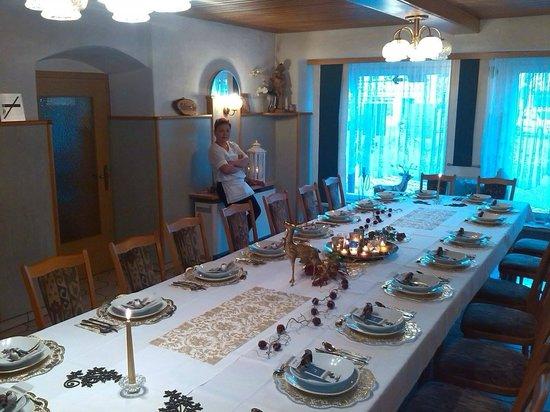 Stadtsteinach, Alemania: Setup für eine Familienfeier