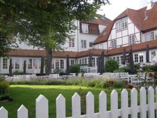 Næstved, Danmark: Hotel Kirstine gårdhave.