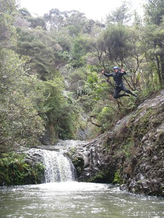 AWOL Canyoning Adventures: Awesome jump!
