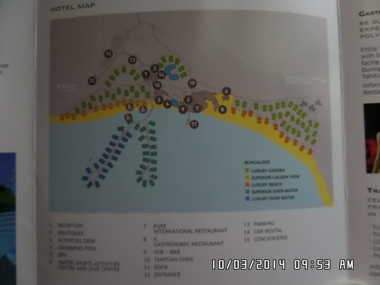 Map Of Resort Picture Of Sofitel Moorea Ia Ora Beach