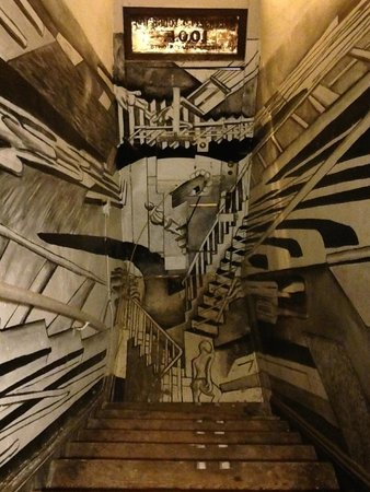 Elsewhere: artful staircase