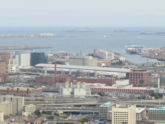 The Westin Boston Waterfront: Hotel from Prudential Tower - just after the long flat building