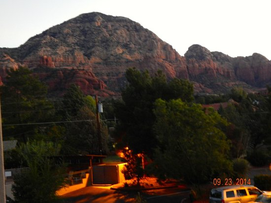 Southwest Inn at Sedona: View from balcony as the sun rose.