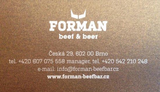 Forman beef & beer